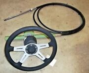Dino 14.5 Wheel,teleflex Cable 18' Ssc11118 Rotary Rack Pinion Steering System