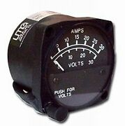 Uma Instruments 2-1/4and039and039 Dual Ammeter 0-60 And Voltmeter 0-30 Non-tso 15-200-60