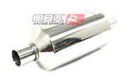 Obx Universal Round S/s Muffler/resonator Fits Truck Suv 2.5 Single In/out