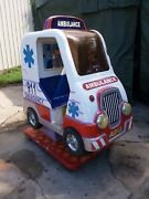 Coin Operated Ambulance Kiddy Kiddie Ride By Falgas All Working Ride 36 Emt