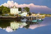 Alexander Volkov  Late Evening In Maine Giclee On Canvas  Al