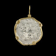 Atocha Sunken Treasure Jewelry - Large Pieces Of 8 Silver Coin With Date Pendant