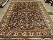 Exclusive Light Brown Rectangle Area Rug Hand Knotted Wool Silk Carpet 10 X 7and039