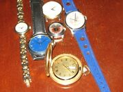 Lot Of Six Watches -- Bulova, Accutron, Yankees, , Fossil, Sergio Uno