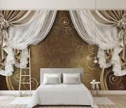 3d Curtain Style 56 Wall Paper Exclusive Mxy Wallpaper Mural Decal Indoor Aj