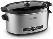 Kitchenaid Slow Cooker 6-quart With Glass Lid   Stainless Steel