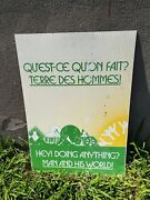 Vintage Advertising Montreal Expo 67 Man And His World 27 X 20 Tin Sign
