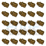 25 Pack 3/8 Npsm To 1/2 Male Nptf Brass Fitting Connector Fuel/air/wog