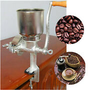 Manual Hand Grain Corn Cereal Flour Mill With Hopper Wheat Coffee Rice Grinder