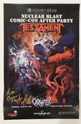 Sdcc 2018 Excl Nuclear Blast Testament Signed Poster By Tom Gilliland Read Post