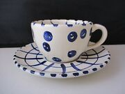 Present Tense Four Sisters Dotty Cup And Saucer- 2 3/8- 1305d