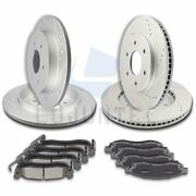 Front Rear Ceramic Pads And Rotors Brake Disc For Nissan Titan Le 5.6l 2004-2005
