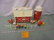 Fisher Price Little People Play Family Farm Barn 915 Ar Tractor Cow Horse Pig