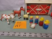 Fisher Price Little People Play Family Farm Barn 915 At Tractor Cow Horse Pig