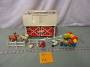 Fisher Price Little People Play Family Farm Barn 915 Av Tractor Cow Horse Pig