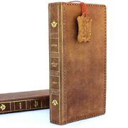 Genuine Leather Case For Samsung Galaxy Note 9 Bible Book Wallet Soft Cover Jafo