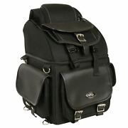 Large 16 Sissy T Bar Tour Bag W/ Conceal Gun And Ammo Pocket For Harley - Dsace