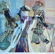 Ting Shao Kuang Shadow Play Hand Signed Serigraph American/chinese 丁绍光