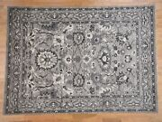 9and039x11and0397 Handknotted Heriz Pure Wool With Natural Colors Oriental Rug G41868