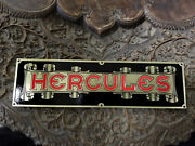 Hercules Body Builders Logo Plate Etched Brass Isotta And Other Makes