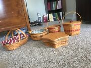Longaberger Basket Christmas Collection Set 1994 To 2008. Excellent Condition.andnbsp