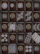 35pc Lot Of Beautiful Vintage Crocheted Lace Doilies Runners. Bridal Wedding