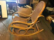 Crassevig Bentwood Rocking Chair In The Style Of Michael Thonet Unused