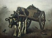 Vincent Van Gogh, Cart With A Black Ox, 1884 Hand Painted Canvas Oil Painting