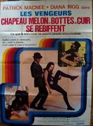 Avengers French Grande Movie Poster A 47x63 Diana Rigg Chapeau Melon And Bottes
