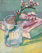 Vincent Van Gogh, In A Glass With A Book, 1888 Hand Painted Canvas Oil Painting