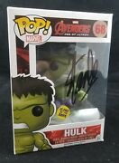 Funko Pop Hulk 68 Avengers Signed By Stan Lee Autographed Glows In The Dark