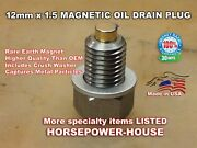 Us-made 12mm Magnetic Oil Drain Plug And Washer @ Many Honda Motorcycles Dirtbike
