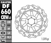 Galfer - Ducati 750 Supersport And03900-01 -wave Rotor- Left Front Brake - Df660crwi
