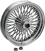 Drag Specialties 0204-0343 Fat Daddy Chrome 50 Spoke Radially Laced Rear Wheel