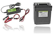 Bikemaster Lithium Battery With Charger Combo 780817 Replaces Yb10la2 Yb14a2+
