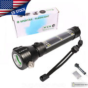 9 In 1 Rechargeable Solar Powered Flashlight Multifunction Led Usb Safety Hammer
