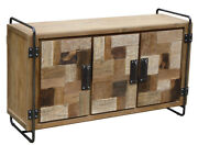 Recycled Teak Wood Mozaik Art Deco Storage Chest / Tv Stand