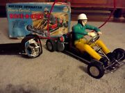 Vintage Marx Race-a-kart, Toy Battery Operated With Box