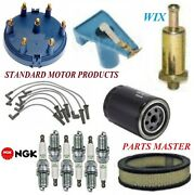 Tune Up Kit Filters Cap Spark Plugs Wire For Ford Fairmont L6 3.3 Auto Trans 79