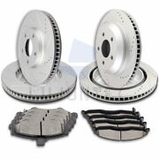 Front Rear Ceramic Pads And Rotors Brake Discs For Pontiac Firebird 1998-2002