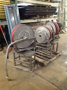 Hannay Stainless Steel Hose Reel Stand Hose And Nozzle Spring Rewind