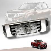 Silver Front Grill Grille Fit For Nissan Navara Np300 D23 2013-2020