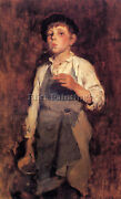 Duveneck Frank He Lives By His Wits Artist Painting Oil Canvas Repro Art Deco