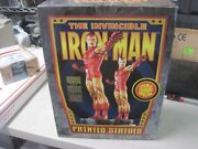 Bowen Iron Man Full Size Matched Set Statues 204/300 Signed Authenticity Card