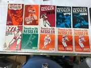 Smooth As Silk Kessler Football Fan Guides Lot/10 1971-1980 Nfl College Schedule
