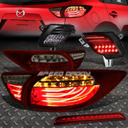 Red 3d Led Tail Lights+ Tinted Rear Reflector Lamp+3rd Brake Light For 13-16 Cx5
