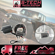 S-tech 4 Amber Switch System W/relays And Fuses For Jeep Wrangler Jl