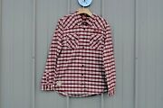 New Nwt Oem Indian Motorcycle Ladies Womens Flannel Plaid Shirt Large L