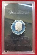 1972 S Ike Eisenhower Silver Dollar Proof Brown Box From The Us Mint Pr Pf Coin