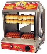 New Professional Hot Dog Steamer Merchandiser Commercial Concession Stand Sealed